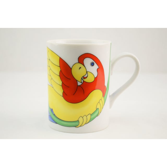 Fitz & Floyd Parrot in Ring Coffee Mug - Set of 4 - Image 4 of 7