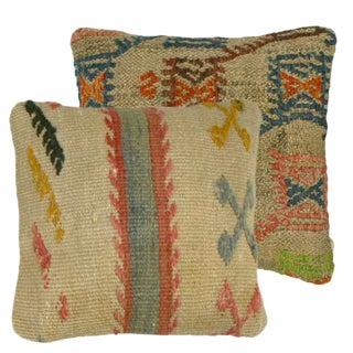 Rug and Relic Neutral Kilim Pillows - a Pair