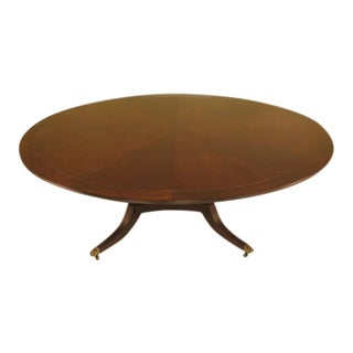 "EJ Victor 86"" Round Mahogany Dining Room Table"