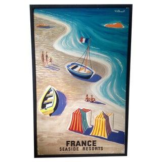 Framed Bernard Villemot Travel Poster, C. 1955