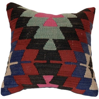 Vintage Square Wool Handmade Boho Pillow