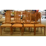 Image of Lane High-Backed Cane Dining Chairs - Set of 8