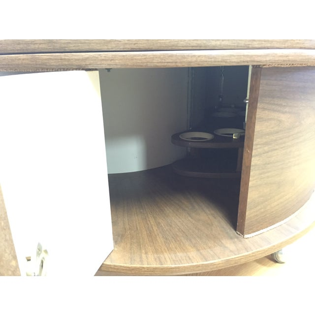 Image of Mid-Century Kidney Shaped Bar Cart Coffee Table