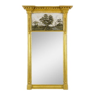 Federal Classical Giltwood Eglomise Mirror