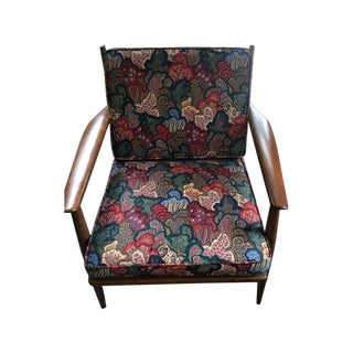 Baumritter Mid-Century Modern Waverly Print Chair