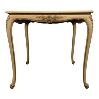 French Rococo-Style White & Gold Dining Table