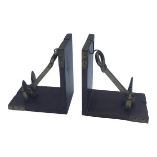 Campaign Style Anchor Bookends - A Pair