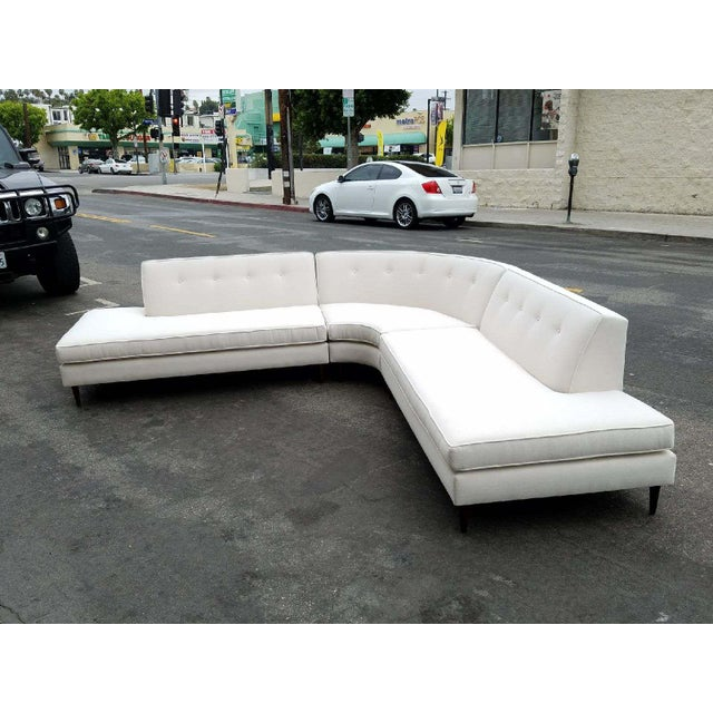 Vintage Oatmeal 3-Piece Sectional - Image 4 of 7
