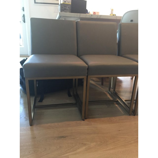 Restoration Hardware Rh Modern Emery Leather Side Chairs