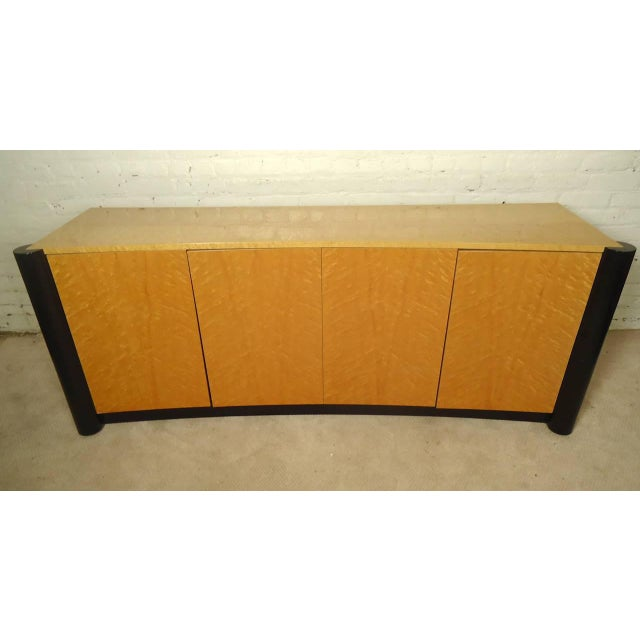 Curved Front Burl Wood Sideboard - Image 2 of 8