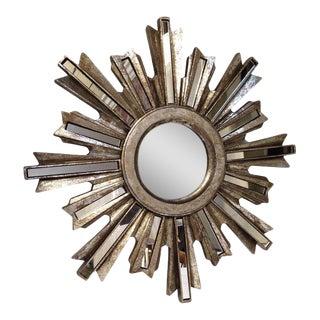 Silver Deco Starburst Mirror