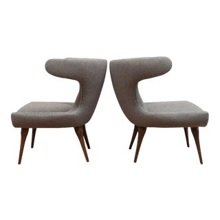 "Gray ""Horn"" Chairs - A Pair"