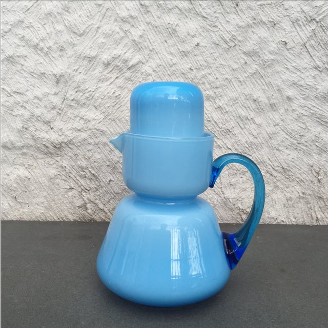 Michael Bang for Holmegaard Blue Pitcher & Cup - Image 2 of 5
