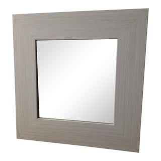 Oyster White Square Accent Mirror