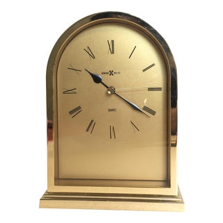 Vintage Howard Miller Brass Clock