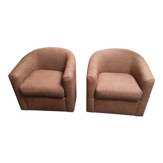 Patricia Edwards for Rudin Swivel Chairs - A Pair