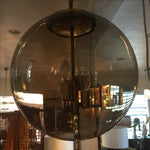 Image of Limburg Circular Smoke Glass and Brass Chandelier