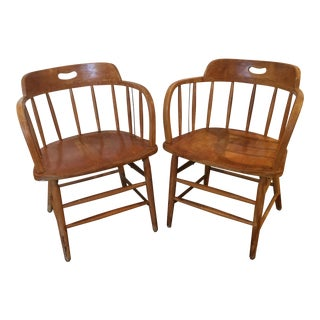Maple Wood Chairs - A Pair