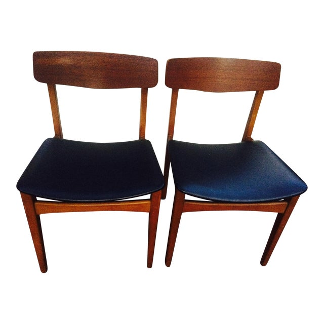 Image of Mid-Century Modern Dining Chairs- A Pair