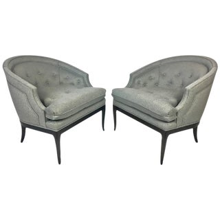 T.H. Robsjohn-Gibbings for Widdicomb Labelled Lounge Chairs- A Pair