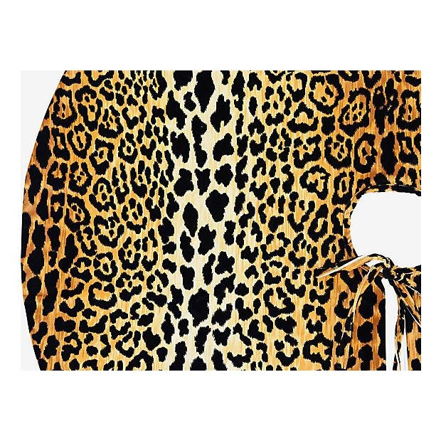 """Custom Tailored X-Large 55"""" Leopard Spot Velvety Christmas Tree Skirt - Image 5 of 9"""