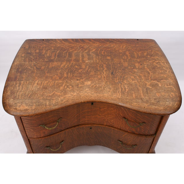 Image of Low 2-Drawer Serpentine Chest