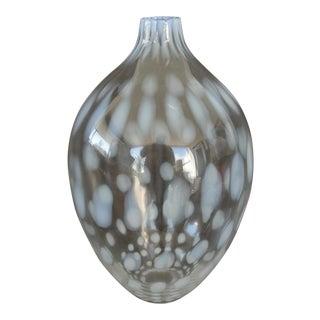 Vintage White Coin Dot Vase