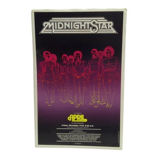 1981 Midnight Star Concert Poster