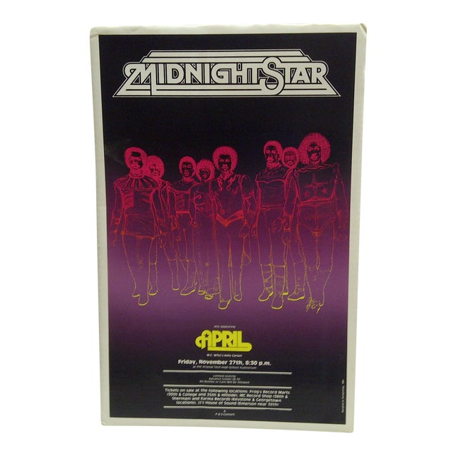 1981 Midnight Star Concert Poster - Image 1 of 4