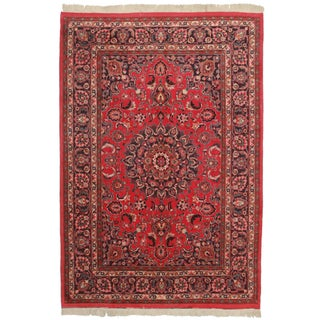 Hand Knotted Persian Mashad Rug - 6′7″ × 9′9″