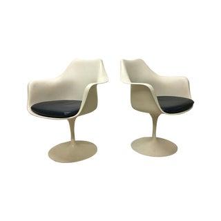 Eero Saarinen Vintage Tulip Armchairs - A Pair