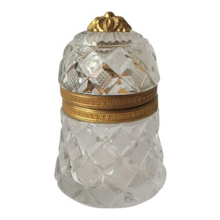 French Cut Crystal Box