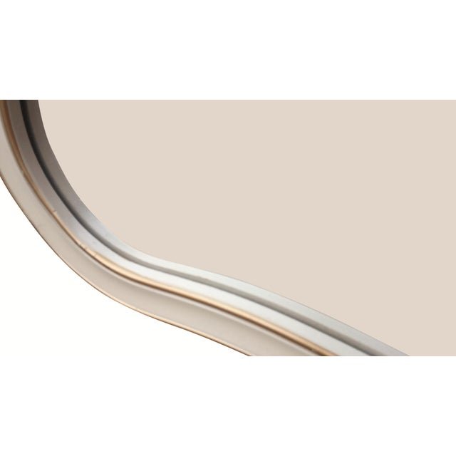 Cream and Gold Rocaille Style Mirror by Drexel 1965 - Image 6 of 6
