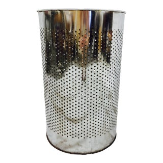 Vintage Perforated Chrome Can