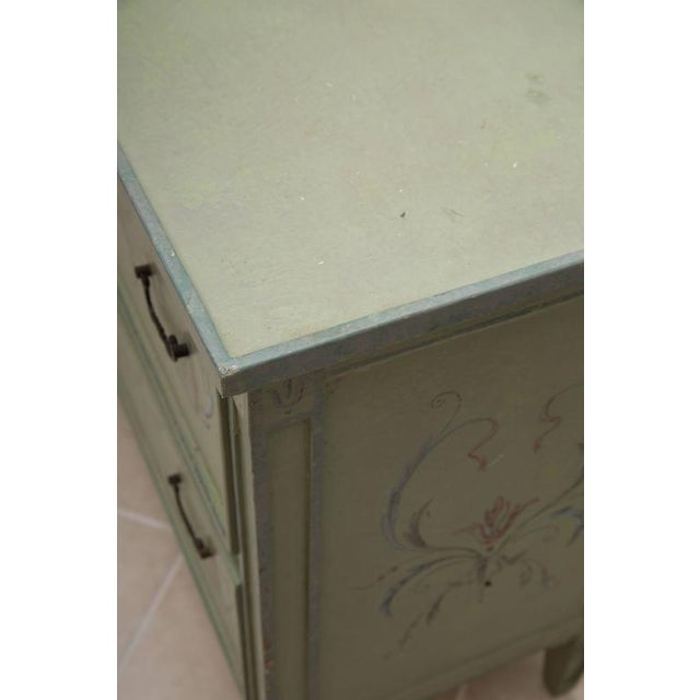 19th Century American Continental Green-Painted Chest - Image 2 of 9
