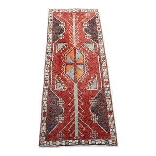 "Vintage Turkish Oushak Tribal Rug- 1'6"" x 3'10"""
