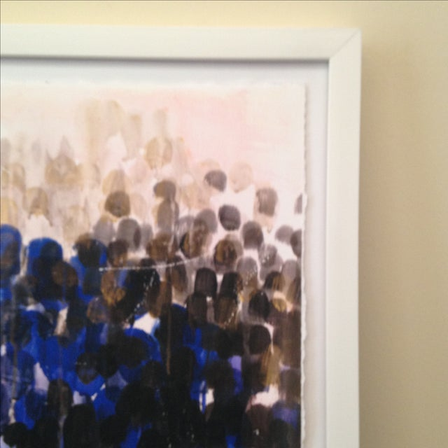 Original Abstract Pastel Watercolor Painting - Image 4 of 5