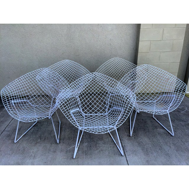 Harry Bertoia Mid-Century White Chairs - Set of 5 - Image 2 of 11