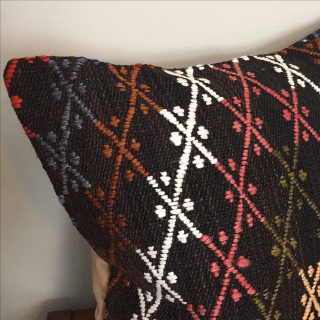 Vintage Kilim Throw Pillows - Pair - Image 5 of 6