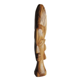 African Female Wood Bust