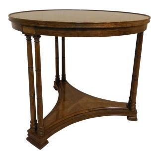 Henredon Heritage Hollywood Regency Banded Walnut Accent Table