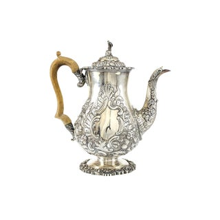 1824 John & Thomas Settle Sheffield George IV Sterling Silver Chinoiserie Coffee Pot