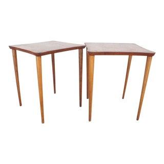Vintage Oak Occasional Tables- A Pair