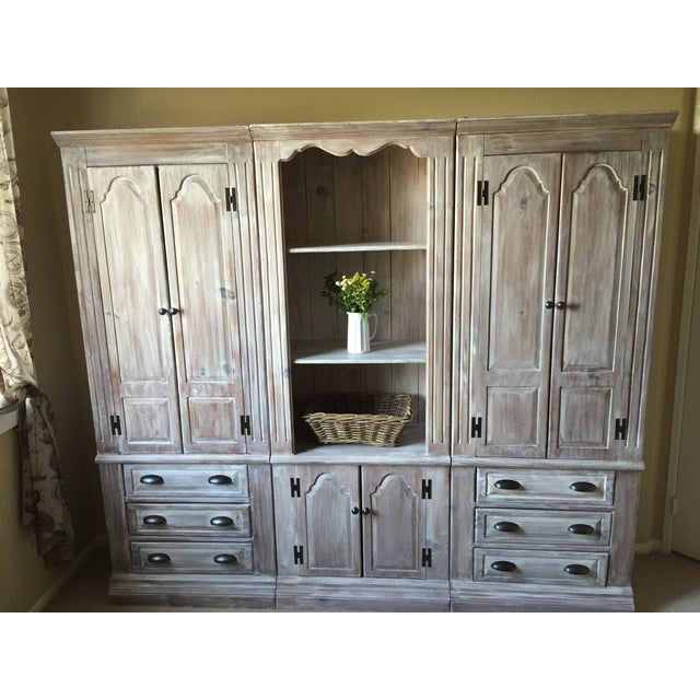 Solid Whitewash Armoire - Image 5 of 11