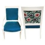 Image of Vintage Velvet & Suzani Koi Armchairs - A Pair