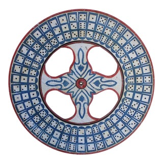 1930s Blue Dice Game Wheel