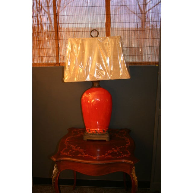 Large Tuscan Red Table Lamp - Image 5 of 10