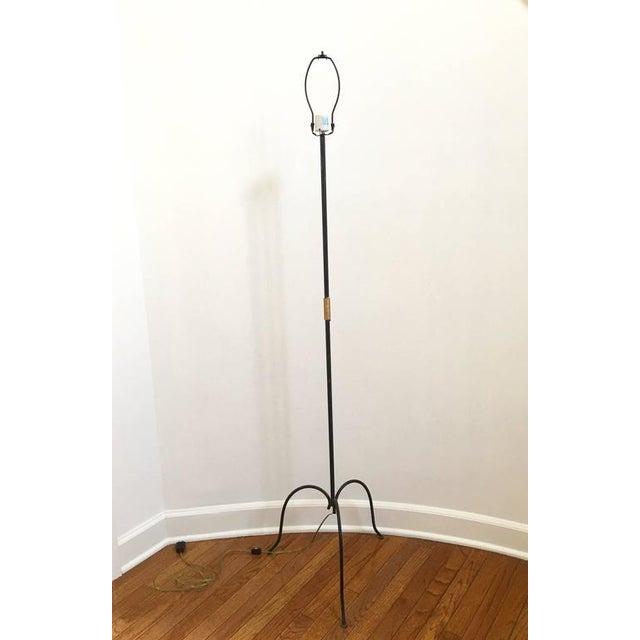 French Metal Tri-Leg Floor Lamp - Image 5 of 8