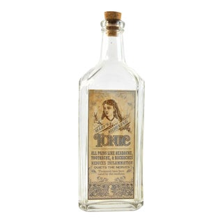 Vintage Style Mary's Morning Tonic Remedy Bottle