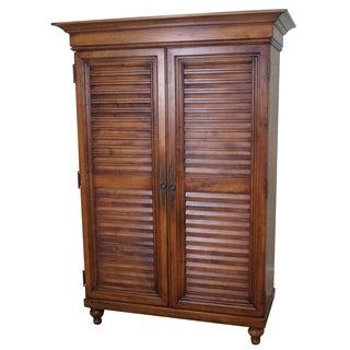 Tommy Bahama Lexington Maple Louvered Door Armoire
